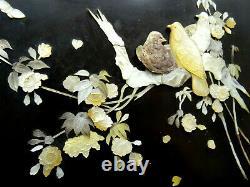 Antike japanische Tafel / very fine antique Japanese Pigeon Shibayama Meiji 19th