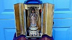 Antique Edo Period Japanese Wood Carved Zushi Fine Traveling Shrine