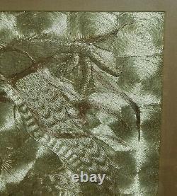 Antique Fine Chinese Japanese Embroidered Silk Dragon Fukusa Robe Panel