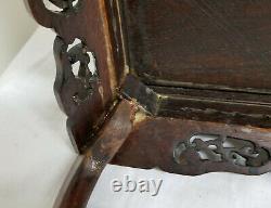 Antique Fine Chinese Japanese Hardwood Table Stand Base Rosewood Hongmu Huali