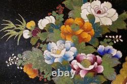 Antique Japanese Cloisonné tray very fine work 6 Diameter