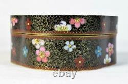 Antique Japanese Fine Cloisonne Box Meiji Period Late 19thC