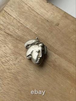 Antique Japanese Geisha Metal Locket