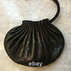 Antique Japanese Inro Wizard Tobacco Leather Pouch Original Edo Inro Fine