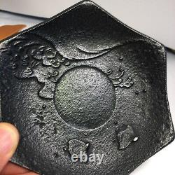 Antique Japanese Nambu Bronze plate fine casting 5 8.6 Oz Stamped