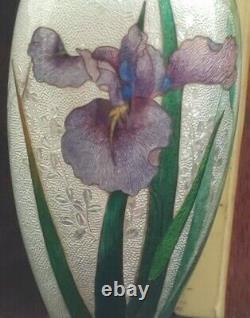 FINE Antique Japanese Cloisonné TSUIKI-JIPPO Vase by KAWAGUCHI, BAWZAEMON 3.5