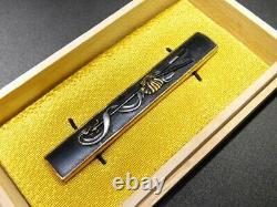 FINE Flag & SAIHAI KOZUKA 18-19thC Japanese Edo Samurai Koshirae Tsuba Antique