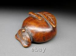 FINE Fruit & Chestnut NETSUKE 18-19thC Japanese Edo Antique for INRO F760