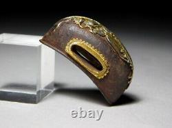 FINE KINKO Flying dragon KURIGATA Japanese Original Edo Antique Sword fitting
