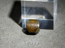 FINE KINKO OJIME Bead Hidden Cross NETSUKE 19thC Japanese Edo Antique for INRO