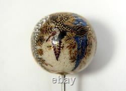 Fine Antique Porcelain Japanese Satsuma Hatpin / Hat Pin