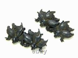 Fine Butterflies MENUKI 18-19thC Japanese Edo Antique Koshirae fitting D428