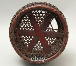 Fine Japanese Ikebana Bamboo Basket T16