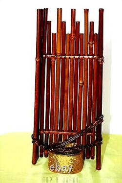 Fine Japanese Ikebana Basket creative bamboo art flower bud Tea ceremony Kago