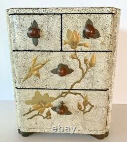 Fine Japanese Meiji Antique Lacquer Portable Chest / Jewelry Box