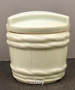 Fine Japanese Meiji Porcelain Jar Barrel shaped, signed