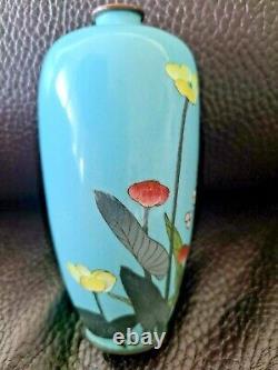 Fine Meija Era Antique Japanese Cloisonne Vase 5