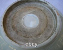 Fine Old JAPANESE Porcelain CELADON Bowl-HOTEI With GOURD Interior-NR