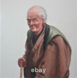 Fine Original Antique Japanese Watercolors SAITO HODO c. 1940 painting
