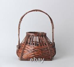 Fine Signed Japanese Ikebana Bamboo Basket FF86