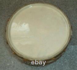 Fine antique Japan Satsuma pottery ceramic drum box jar