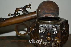 Fine quality mid 20th century Japanese bronze Yatate writing set, c 1940