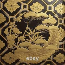 Japan Japanese Lacquer Box with Fine Maki-e Decoration Meiji Period ca. 1900