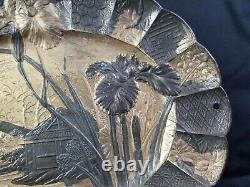 Japanese Antimony Ware Fine Tray