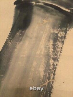 Japanese Antique Edo period Ink Painting After Miyazaki Kinpo Signed Fine Art
