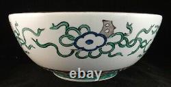 Japanese Kutani Porcelain Finely HP Bowl. 10 5/8 dia. 4 3/8 tall. C. Late 1800