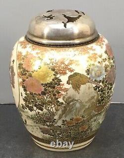 Japanese Meiji Satsuma Incense Burner With Fine Decorations
