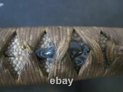 Japanese WAKIZASHI 28 Meiji Period SWORD with Fine Lacquer & Bronze Sheath