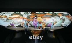Large Fine Quality Japanese Satsuma Censer Brush Washer 19th C Meiji
