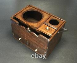 Rare And Fine 19th Century Antique Japanese Wood Case With Handle And Drawers