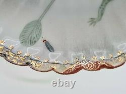 Rare Antique Japanese Fine Porcelain Cup & Saucer Satsuma Kutani Frogs AE3