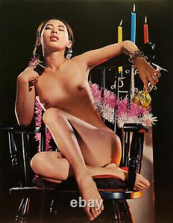 Susumu Matsushima 1960s Nude Japanese Female in Chair 17 x 22 Fine Art Print