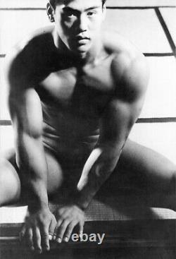 Tamtosu Yato Nude Japanese Male Seated Gay Physique 17 x 22 Fine Art Print