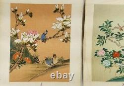 VTG Original Japanese Bird Paintings On Rice Paper In Guache Very Fine Detail