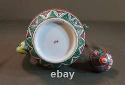 Very Fine 18th Century Japanese Kutani Phoenix Beak Spout Tea Pot Vase