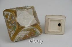 Very Fine Antique Japanese Satsuma Koro, ShiShi Final 19thC Impressed Mark