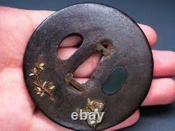 Very fine Monkey TSUBA 18-19thC Japanese Edo Antique for Koshirae F289