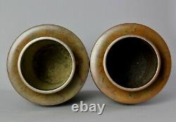 Very fine large Japanese Bronze Vase pair signed by well known artist Y20
