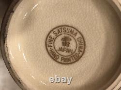 Vintage SMALL JAPANESE FINE SATSUMA CHINA VASEHAND PAINTED