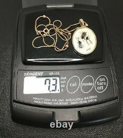 9ct Shibayama Insect Necklace Antique Japonais Signé 9ct Inhabituelle Chaîne Qty 7.3g