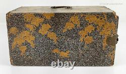 Antique Fine Laque D'or Japonaise Kodansu Boîte D'encens Meiji Période 19ème Siècle