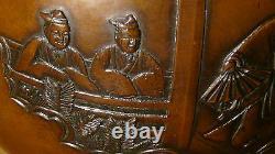 Antique Japonais Bronze Usubata Fine Meiji Période Ikebana Tokonoma Vase, Signé