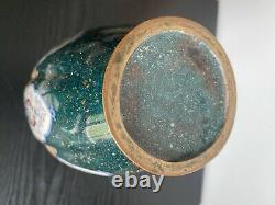 Antique Japonais Cloisonne Vase Lobed Grand Fil Fine 30 CM