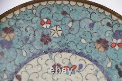 Antique Japonais Edo Period Cloisonne Dish Fine Wire