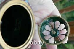 Antique Meiji Période Japonais Cloisonné Brûleur D'encens 4.5 Très Beau Travail