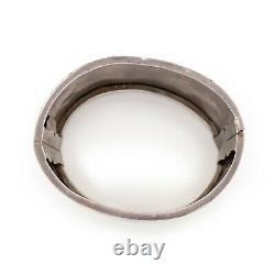 Antique Vintage Art Nouveau Sterling Silver Japonais Énorme 1.45 W Bracelet Manchette